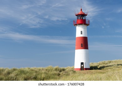 Lighthouse in dune on German island Sylt