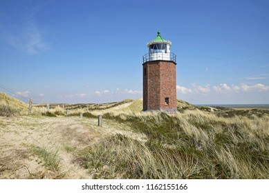 Lighthouse in the dunes of Kampen on Sylt the 05.02.2018