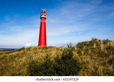 lighthouse and dunes at Schiermonnikoog, Friesland, Netherlands