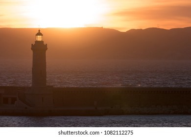 lighthouse during sunset in Marseille