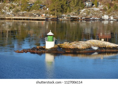 Lighthouse. Early spring