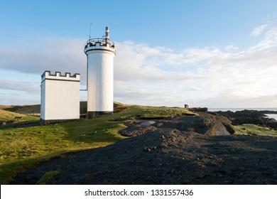 The Lighthouse at Elie Ness, Fife Coastal Path, Elie, Scotland.
