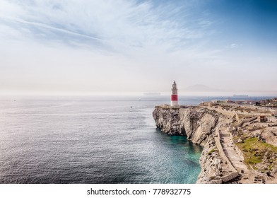 Lighthouse at Europa Point in Gibraltar