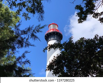 Lighthouse In Florida With Blue Sky