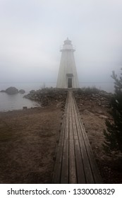 Lighthouse fog nature