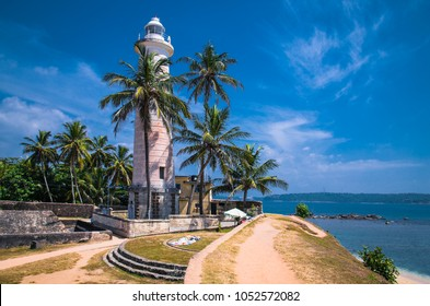 Lighthouse in fort Galle - Sri Lanka seascape
