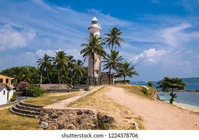 Lighthouse in fort Galle - Sri Lanka seascape