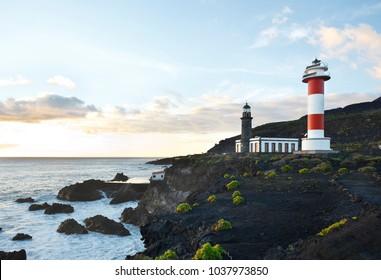 The lighthouse in Fuencaliente, La Palma, Spain.