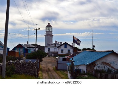 Lighthouse. Gamov Peninsula. Primorye. Russia.