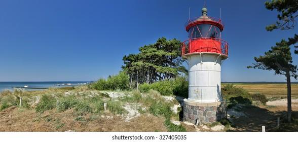 Lighthouse Gellen (Island Hiddensee - Germany) - panorama