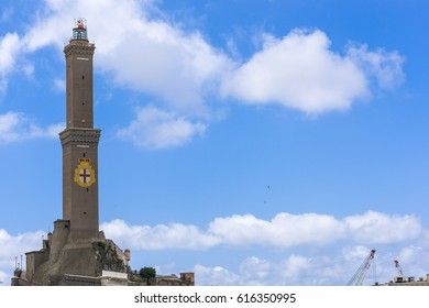 The lighthouse of Genoa, called Lanterna, symbol of the italian city.
