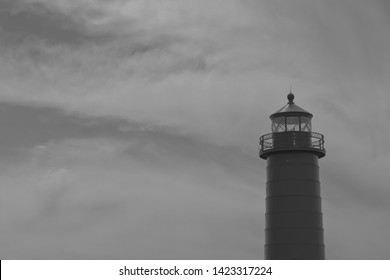 Lighthouse in Grand Haven, Michigan. Photographed 6/11/2019