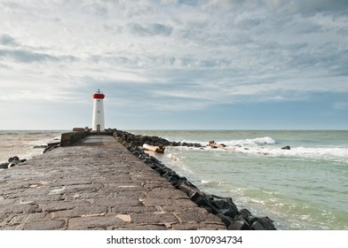 lighthouse of Grau d'Agde in Occitania in France