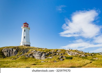Lighthouse guarding coast of Sydney, Nova Scotia