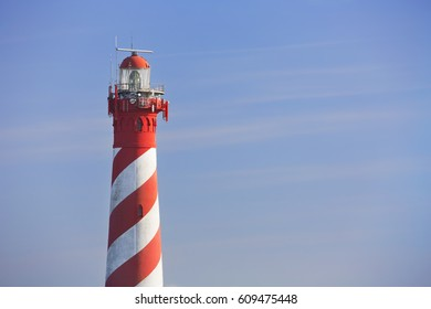 The lighthouse of Haamstede in Zeeland, The Netherlands.