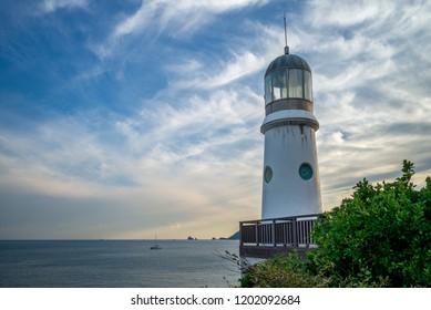 lighthouse at Haeundae Dongbaekseom Island, busan