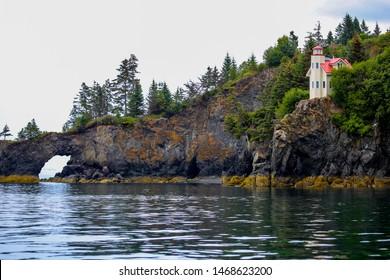 Lighthouse in Halibut Cove, Alaska