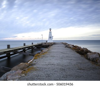 Lighthouse at the harbor in Bogense