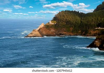 Lighthouse at Heceta Head, Oregon coast