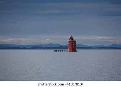 Lighthouse and hotel at Norway