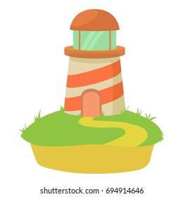 Lighthouse icon. Cartoon illustration of lighthouse  icon for web
