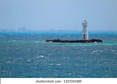 Lighthouse inside the ocean