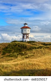 A lighthouse at the island of Langeoog, Lower Saxony, Germany
