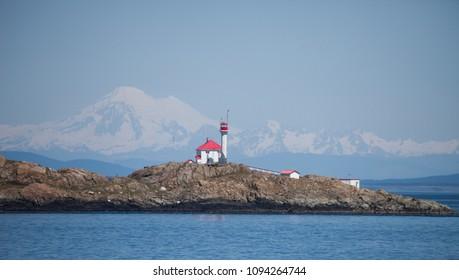 Lighthouse Island and a Mountain