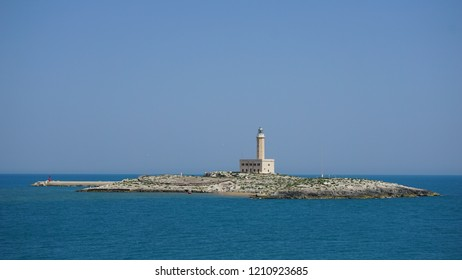 Lighthouse island in Vieste, Italy