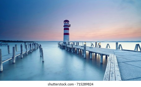Lighthouse at Lake Neusiedl (Podersdorf am See, Burgenland, Austria)