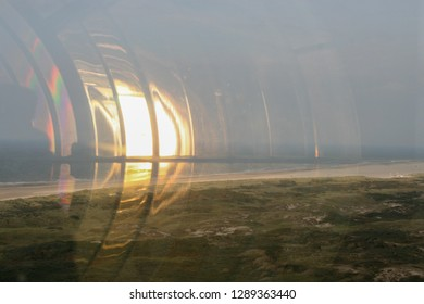 lighthouse lamp Ouddorp by the sea inside The light has a brightness of 5,200,000 candelas and a visibility of 30 nautical miles The light has a brightness of 5,200,000 candelas and a visibility of 30