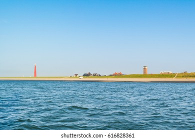 Lighthouse Lange Jaap at North Sea coast of Huisduinen near Den Helder, Netherlands