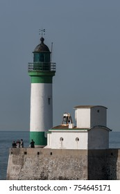 The Lighthouse of Le Tréport. Le Tréport is a commune in northern France, located in the Normandy.