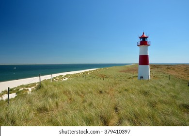lighthouse list east at the island Sylt in Northern Sea, germany