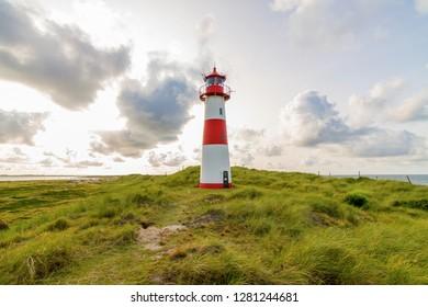 Lighthouse List East on dune