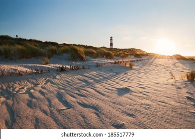 The lighthouse List East on Sylt. It was constructed in 1857 and is located on the peninsula Ellenbogen near the city of List. From the lighthouse the Danish coast can be seen.