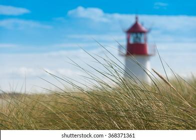 Lighthouse List West, Ellenbogen, Sylt, Schleswig-Holstein, Germany