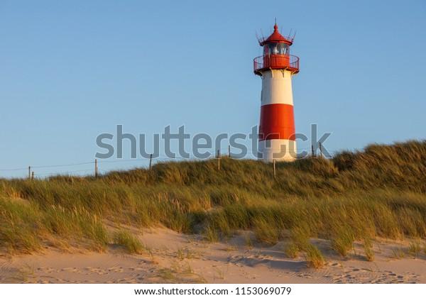 Lighthouse Listost On Island Sylt Germany Stock Photo Edit Now