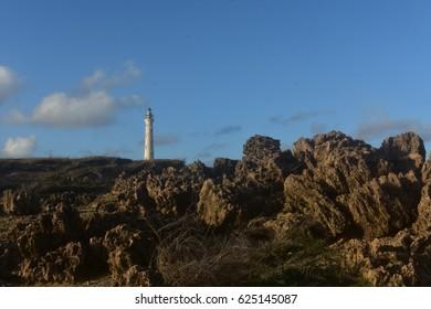 Lighthouse located on the north coast of Aruba.