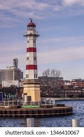 Lighthouse of Malmö. Located on a notorious rocky shoal just off the entrance to Malmö harbor.