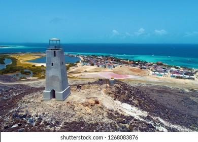 Lighthouse of Los Roques, caribbean sea, Venezuela. Beautiful landscape. Great beach scene. Fantastic landscape. Vacation travel. Travel destination. Tropical travel. Tourism point.