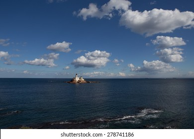 lighthouse in Mediterranean sea, Algerian coast