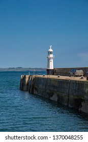 Lighthouse in Mevagissey in Cornwall