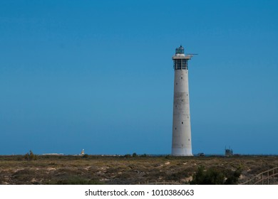 Lighthouse in Morro Jable, Fuerteventura, Spain, Canary islands