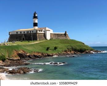 Lighthouse and Mueseum of Farol in Salvador Bahia Brazil