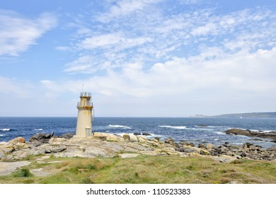 Lighthouse at Muxia Galicia Spain. Pilgrim destination