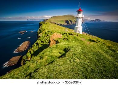 Lighthouse, Mykines, Faroe Islands, Denmark