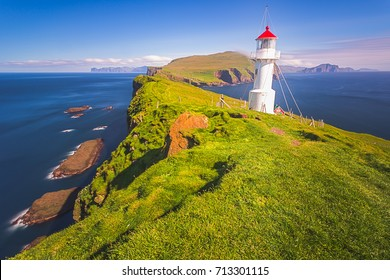 Lighthouse, Mykines island,Faroe Islands, Denmark