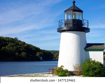 Lighthouse at the Mystic Seaport in Connecticut.
