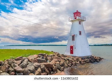 Lighthouse near Brighton beach in Charlottetown, Canada
